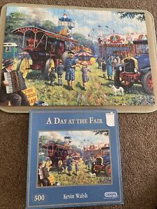 gibsons 500 piece jigsaw puzzles A Day At The Fair Complete