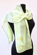 Salvatore Ferragamo 100% Silk Chiffon Scarf Green Floral