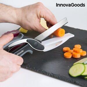InnovaGoods Scherenmesser mit integriertem Mini-Schneidebrett