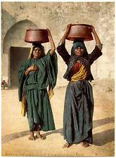 Photochrome Palestine - Paysannes de Siloé - Marchandes de lait aigre -