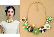 N728 Forever 21 Lily Green Flower Brides Wedding Accessories Pearl Necklace US
