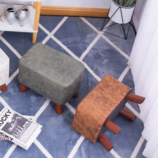 Rectangle Ottomans Footstools Faux Leather Padded Cushion Rest Seat Pouffe Stool