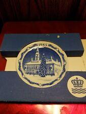 """Royal copenhagen rd. 3"""" plate townhall of Copenhagen 1985"""