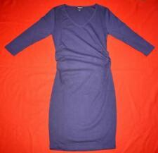 ISABELLA OLIVER LOVELY MATERNITY DARK BLUE 3/4 SLEEVE DRESS - SIZE 2  UK 10 US 6