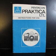 Pentacon PRAKTICA Ltl D'Enseignement Manuel Camera Guide Anglais O401440