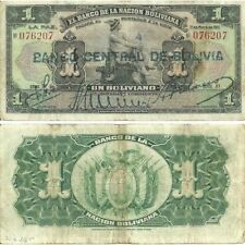 D-19-1, BOLIVIA 1 BOLIVIANO 1911 P-103A, F/CIRCULATED
