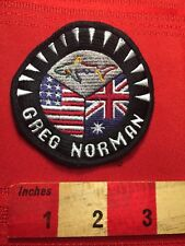 As-Is Condition GREG NORMAN USA & AUSTRALIA FLAG THEME Golf Sport Patch 81WR