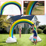 Water Toys Inflatable Rainbow Water Spray Arch Sprinkler For Kids lawn PVC Toys