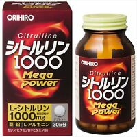 ORIHIRO Citrulline 1000 mg Arginine Zinc 240 tablets 30 days JAPAN F/S