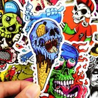 50pcs/lot Horror Stickers Collection Vinyl Decal PVC Laptop Skateboard