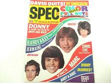 SPEC MAGAZINE JAN 1973 EXCELLENT COND CASSIDY, J-5, OSMONDS, WILLIAMS TWINS