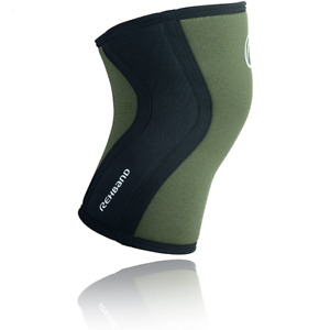 Rehband Rx Neoprene Comfortable Knee Compression Sleeve 5mm 1 Sleeve Green Small