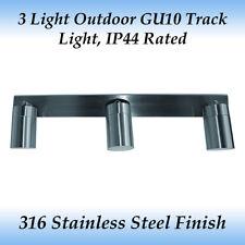 3 Light Exterior Adjustable Bar Light in 316 Marine Grade Stainless Steel Finish