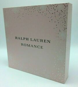 "Ralph Lauren Romance Empty Perfume Gift Box 8.5"" X 8.5"" X 2,5"" Pink Very Thick"