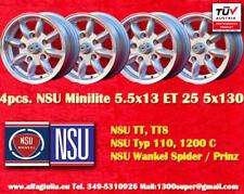 4 Roues NSU TT TTS Led lumière mini 5.5x13 ET25 5x130 Wheels