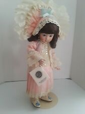 """Colette Hamilton Recreations 16"""" Porcelain hand painted doll collectible in box"""