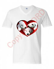 More details for bedlington terriers in a heart t shirt in adult sizes s to 2xl mothers day gift
