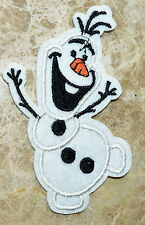 olaf snowman frozen embroidered applique iron on patch motif Christmas Happy