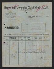 HALLE/SAALE, Rechnung 1923, Brennstoff-Vertriebs-GmbH Kohlen-Großhandel