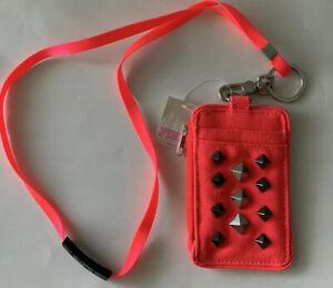 Victorias Secret Pink ID Holder Badge Zipper Wallet NWT