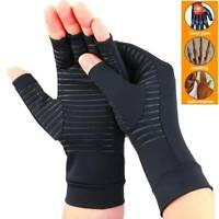 Copper Compression Gloves Fit Arthritis Carpal Tunnel Hand Support Pain Relief