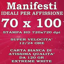 MANIFESTI affisione 70x100 Stampa colori HD Poster Carta 120gr Spedizione 24h