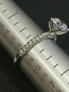 New A.Jaffe Engagement Ring 14k white gold Pave set