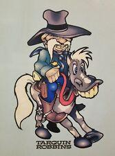 Very Rare Vintage Evol Tarquin Robins Cowboy 1994 | Blue | Collectible
