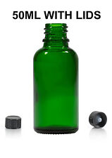 231pcs 50ml GREEN Glass Bottle for Essential Oils/Aromatherapy Blends with lids