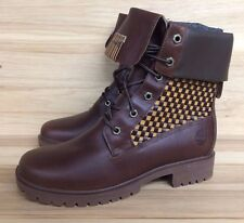 VINTAGE TIMBERLAND PREMIUM BOOTS DARK BROWN WHEAT WOMENS WMNS SZ 8.5-10  17328 L