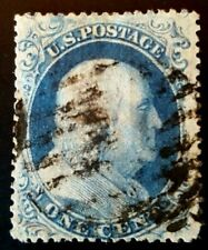 Us stamps 19th century used scott #22 XF/S vivid blue CV 400.00