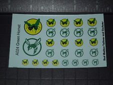 Small Scale Green Hornet Opaque Waterslide Decals for Action Figures