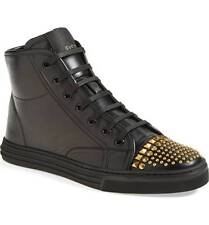716b42c0a Gucci California Studded Black Leather High Top SNEAKERS Sz 41 / 11 US