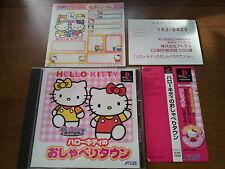 HELLO KITTY NO OSYABERITAUN SONY PLAYSTATION VIDEOGAMES PS JAP JAPANESE PSX PS1
