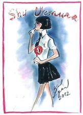 KARL LAGERFELD sketch Shu Uemura print