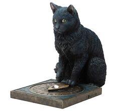 "8.5"" His Masters Voice By Lisa Parker Gothic Decor Black Cat Statue Sculpture"