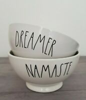 NEW Rae Dunn by Magenta NAMASTE and DREAMER Cereal Soup Bowl Set Farmhouse Decor
