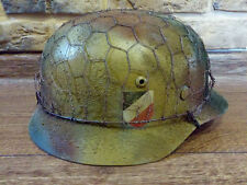 M35 STAHLHELM GERMAN HELMET MIT NETZ CHICKEN WIRE NORMANDIE SPECIAL BEST QUALITY