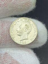 1928 Ecuador 50 Centavos XF+