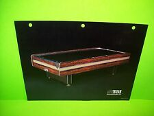 TGI Tournament Games Inc Original Vintage Air Hockey Table Arcade Game Flyer
