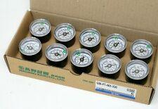 Box of 10 SMC G36-P7-N01-X30 Pressure Gauge w/limit indicator 0-100psi 0-.7MPa