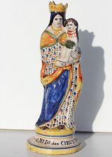 MADONNA DEL CIELO - CERAMICA DI QUIMPER - PRODUZIONE PORQUIER - H 27 cm