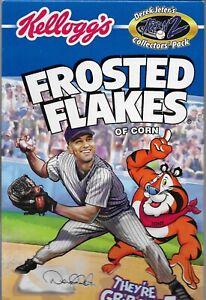 Derek Jeter Kellogg's Frosted Flakes Box * Turn 2 CHARITY * Derek Fielding 2002