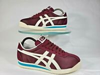 Men Size 7 Asics Onitsuka Tiger Corsair Port Royal Maroon Cream Shoe D747N-600