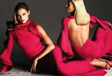 Quintessentially VALENTINO GRECIAN GODDESS magenta ruffles  silk coctail dress
