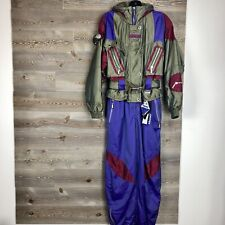 NEW Vintage SPYDER 90s Ski Suit One Piece Romper Stirrup Stretch Pants Women 12