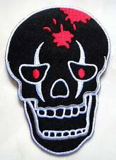#17 Skull Design Motorcycle Biker Embroidered Iron on Patch Free Postage