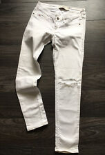 hollister White Ripped Jeans 5S , W27 ,S