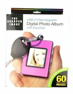 "Sharper Image USB 20 Rechargeable 1.4"" Digital Picture Frame"
