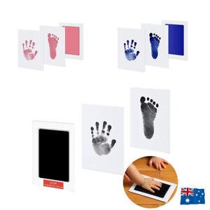 Newborn Baby Pet Wipe Safe Inkless Hand Foot Print Keepsake Kit Christmas Gift